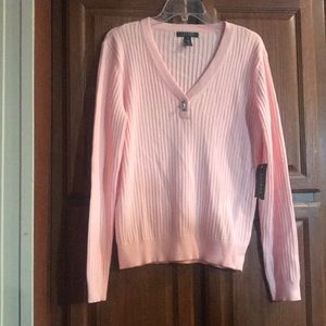 Ralph Lauren Woman's Pink Sweater New with Tags XL